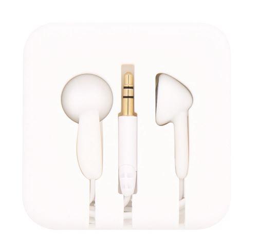 tnb pocket écouteurs boutons avec étui enrouleur en silicone blanc