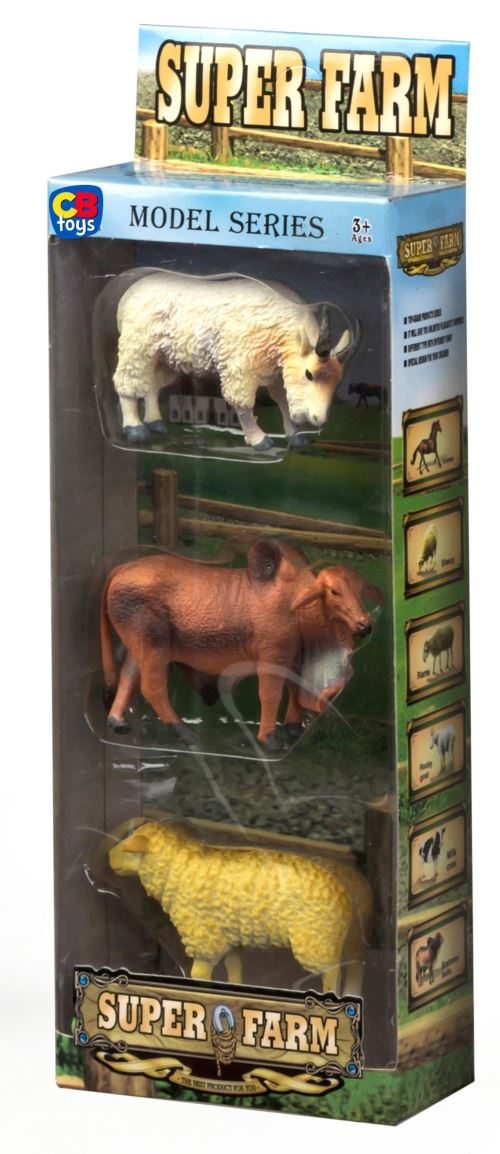 Set 3 animaux ferme 11x5x30 - 2 modèles