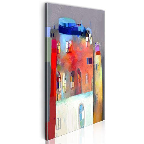 Tableau - Maison irisée - Décoration, image, art | Pour enfants | 40x80 cm |