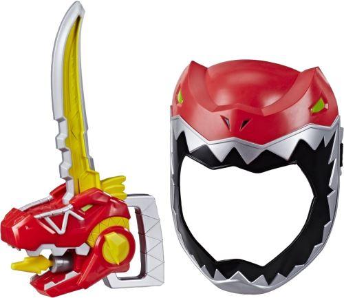 Power Rangers masque avec épée garçons rouge taille unique