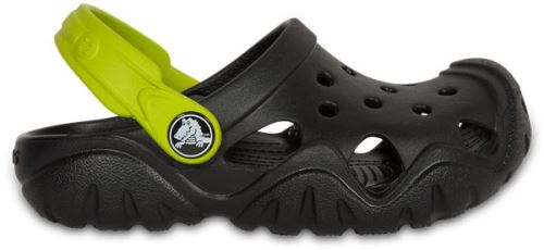 Crocs enfants swiftwater sabots <strong>chaussures</strong> sandales en noir volt vert 202607 09w