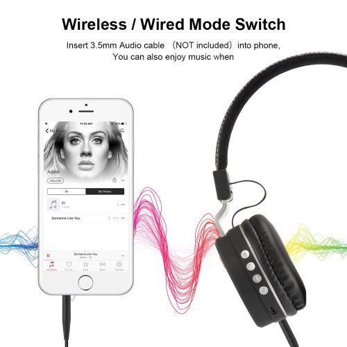 Casque sans fil Bluetooth pliable sur l'oreille écouteur Bass sport profond casque TH908