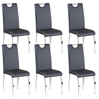 Cooper Lot 6 Chaises Noires