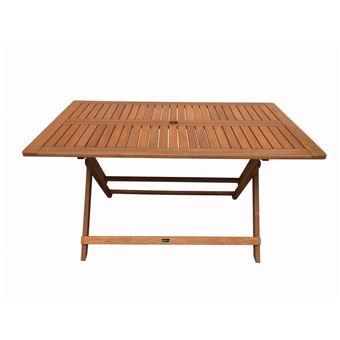 table pliante bois exotique hong kong - maple - 135 x 80 cm - marron ...