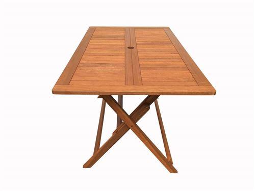 table pliante bois exotique hong kong - maple - 135 x 80 cm - marron clair