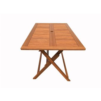 table pliante bois exotique hong kong - maple - 135 x 80 cm - marron ...
