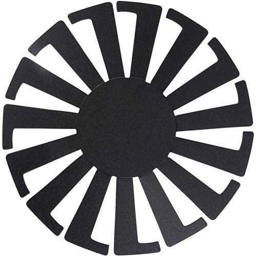 Creotime modèle de tissage panier 14 x 8 cm noir 10 pièces
