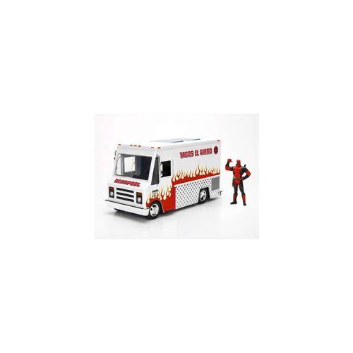 Modèle Taco Truck Van Tacos Du Film Deadpool 21cm Échelle 1/24 Avec Figure - 100% Original Official Marvel Toys