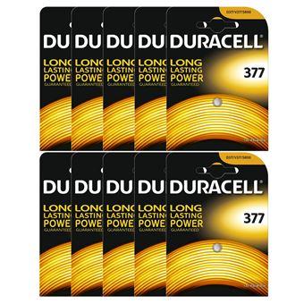 10 X Duracell 377 15v Silver Oxide Watch Battery Batteries Sr626sw Ag4 626 D377