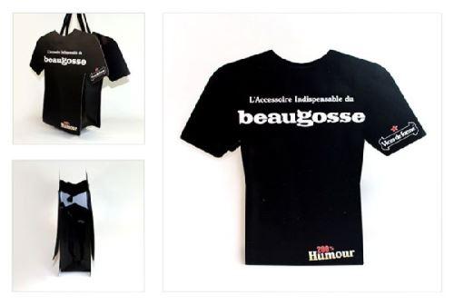 Sac cadeau T-shirt beau gosse- 31 cm