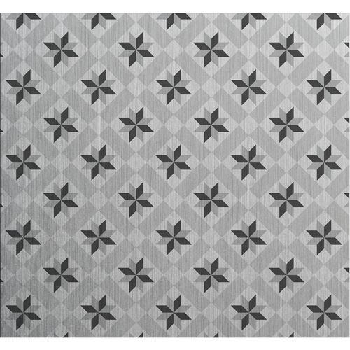 Crédence adhésive en aluminium Carreaux - L. 20 x l. 20 cm - Gris - Design CPM - Ciment