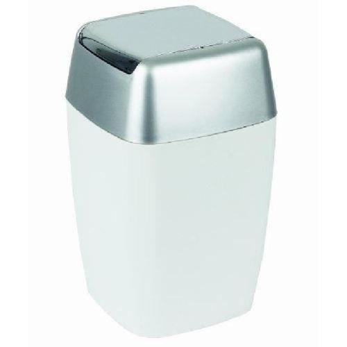 Retro poubelle salle de bain - 33x20x20cm - blanc 10.08138