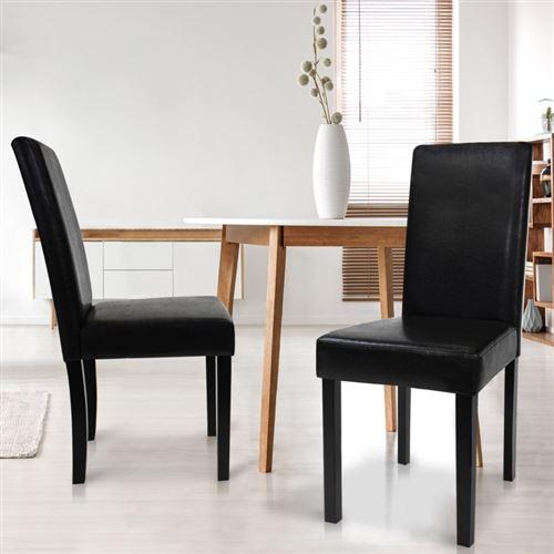 Lot de 2 chaises Hannah noires pour salle à manger