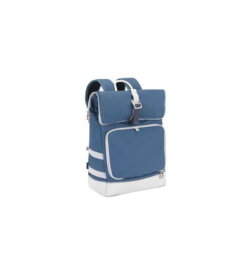 Babymoov Sac à Dos à Langer Le Sancy Bleu - Capacité ajustable - Compartiment Isotherme - Matelas à langer et Serviette Coton inclus