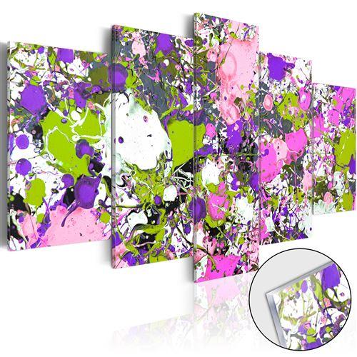 Tableau sur verre acrylique | Streams of Colours [Glass] | 200x100 | XXL |