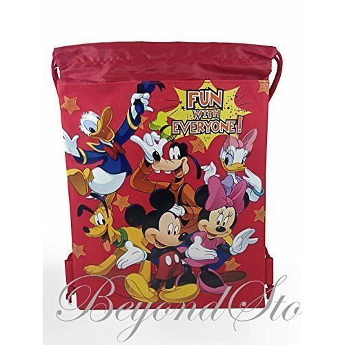 Sac fourre-tout à dos à cordon Disney Mickey and Friends de BeyondStore