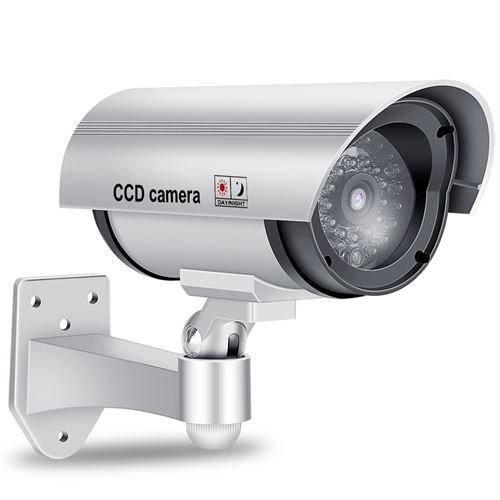 Caméra factice, caméra de sécurité factice non inductive avec simulateur de LED rouge clignotant arg