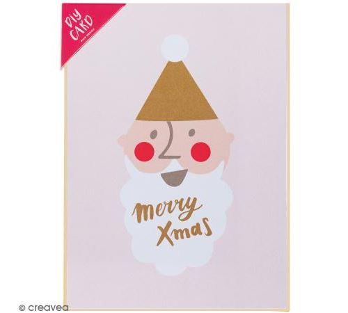 Kit carte à personnaliser - Rico Design Noël - Père Noël - 12,5 x 17,5 cm