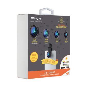 Kit objectif PNY 4 en 1 pour Smartphone