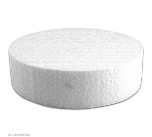 Disque en polystyrène expansé 15 cm