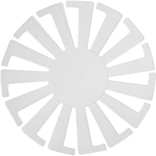 Creotime modèle de tissage panier 8 x 6 cm blanc 10 pièces