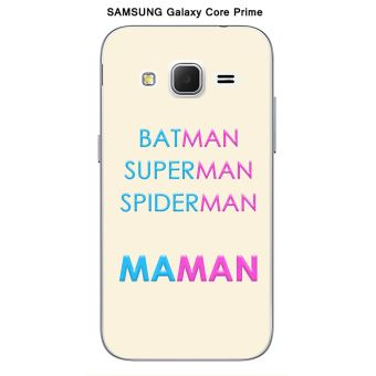 Coque Samsung Galaxy Core Prime design Maman vs Batman