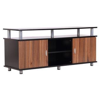 Meuble Banc Tv Design Contemporain Multi Rangements 2 Portes Niche