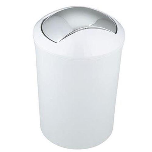 Spirella poubelle salle de bain malibu - 30x19x19cm - blanc 10.01769