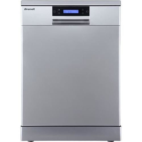 Brandt DFH144LX - Lave-vaisselle - pose libre - hauteur : 81.8 cm - inox