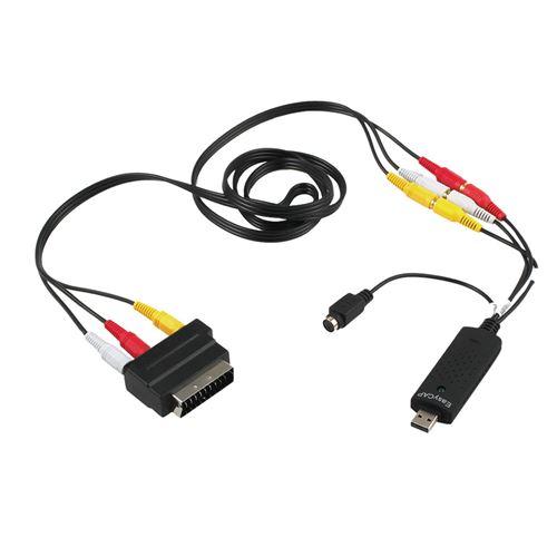 Usb2.0 Vhs To Dvd Converter Audio Video Capture Kit Péritel Rca Pour Win10 Noir MK8070