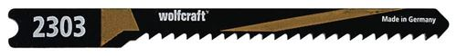 Wolfcraft 2303000 2 Lames de Scie Sauteuse Hcs Queue en U Longueur Dentée 50 Mm Pas de Dents 2 Mm Dents Ondulées Et Fraisées