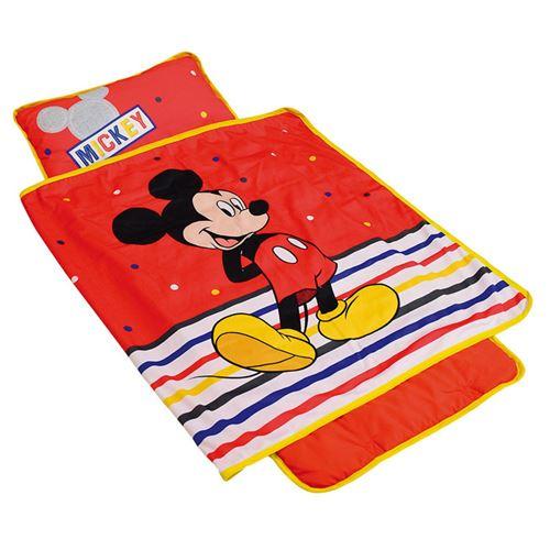Tapis de sieste rouge Mickey de Disney facile à transporter