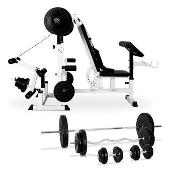 Klarfit Set Station musculation complète : banc d ...