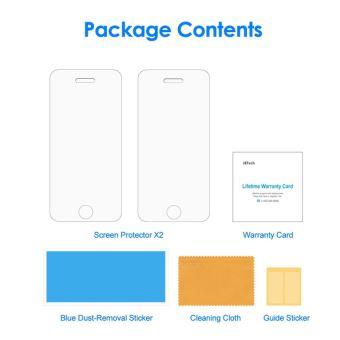 Pack Premium Lot De 2 Verre Trempe Pour Apple Iphone Se Anti