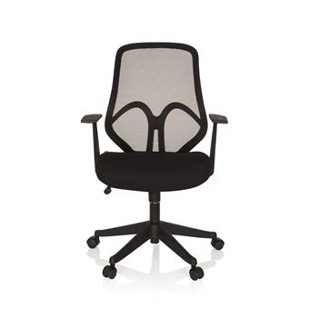 Chaise de bureau siège pivotant AMIKO maille tissu noir