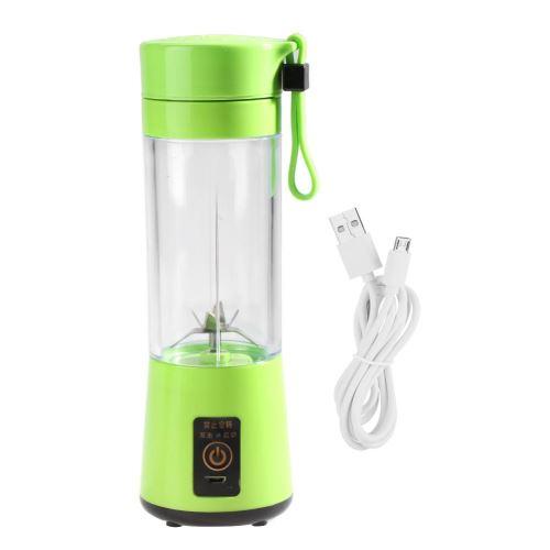 350-400ML Presse-agrumes électriques Portable USB Rechargeable Plactic Juicer Extracteur de Jus de Fruits Blender (Vert)