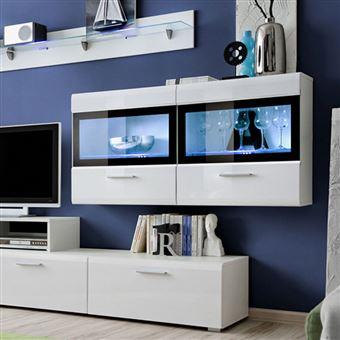 Meuble Tv Mural Design Krone 300cm Blanc Achat Prix Fnac