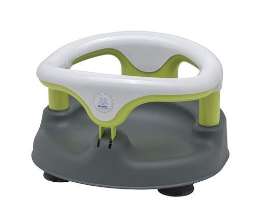 Rotho Babydesign Siège de Bain, Avec Anneau Rabattable et Sécurité Enfants, 7-16 mois, Jusqu'à max. 13kg, Sans BPA, 35x31,3x22cm, Gris/Blanc/Vert