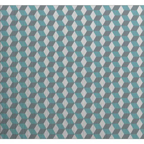 Crédence adhésive en alu Cube - L. 20 x l. 20 cm - Gris - Design CPM - Cube