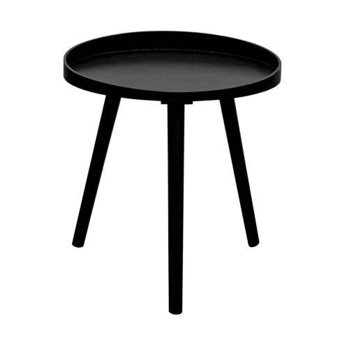 Lalin - Table d'Appoint Ronde Diam. 40cm Coloris Noir