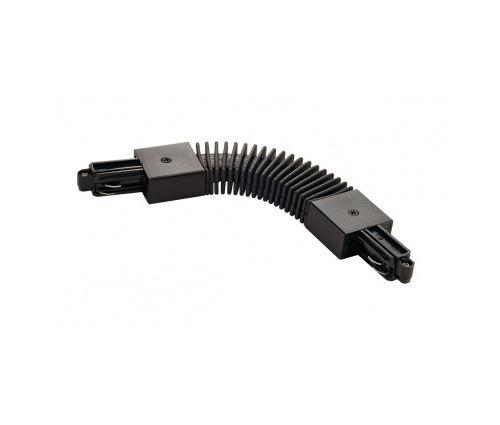 Connecteur flexible pour rail 1 allumage 230v, noir