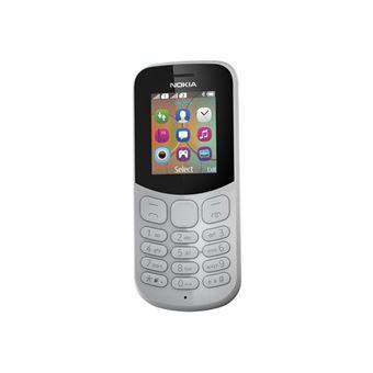 Nokia 130 - Téléphone mobile - double SIM - microSDHC slot - GSM - 160 x 120 pixels - TFT - RAM 4 Mo - 0,3 MP - Nokia Series 30+ - gris