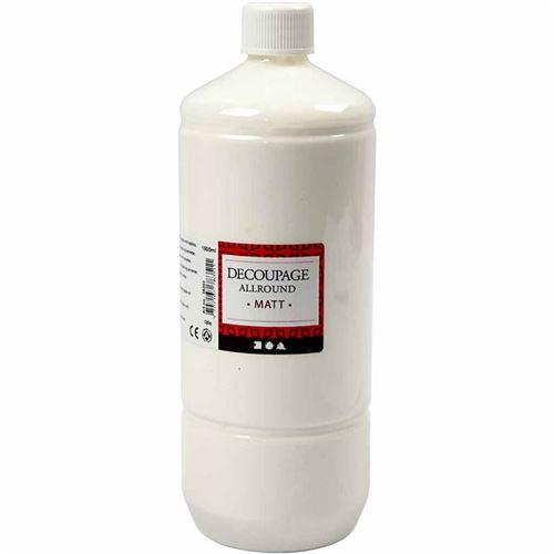 Creotime vernis de découpage à la colle mat 1000 ml