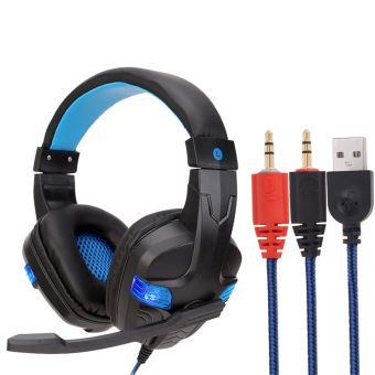 18 sur casque filaire usb led 3 5 mm gaming headset casque avec micro pour pc portable