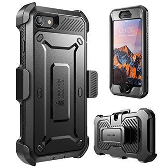 SUPCASE Coque iPhone 7 Coque iphone 8 Coque Integrale a Double Couche avec Protecteur d ecran Integre et Clip de Ceinture Unicorn Beetle Pro pour iPhone 7 iPhone 8 Noir