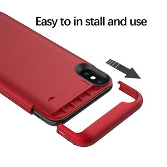coque rechargeable iphone xs rouge