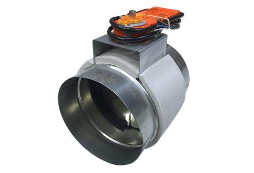 Registre motorisé en acier galvanisé - Registre motorisé Ø 200 mm - 230 Volts, tout ou rien