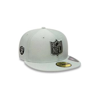 pas cher pour réduction homme images détaillées Casquette NFL Oakland Raiders New Era Logo League Fit 59fifty Gris taille  casquette 7 1/2 (59.6cm)