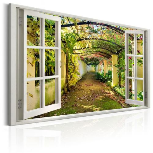 Tableau - Window: View on Pergola .Taille : 90x60