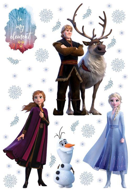 Stickers repositionnable Disney - La Reine des Neiges 2 - modèle In my element - 42.5CM x 65 CM
